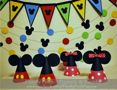 Decors at a Mickey and Minnie Mouse Party #mickeyminnie #decor