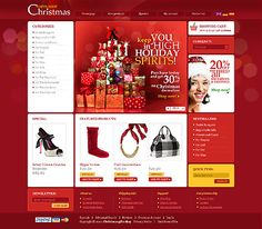HoHoHo... Get Christmas Template Espresso! That's OsCommerce #template // Regular price: $140 // Unique price: $2500 // Sources available: .PSD, .PHP #OsCommerce #Shop #Store #Christmas #SantaClaus #Toys #Decoration #Gifts