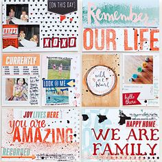 Heather Greenwood Designs | Week 30 #mixedmedia #projectlife #hybridscrapbook