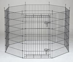 Homey Pet Outdoor Design 8 Panels Playpen-Black and Gold Zinc-LCH24' 30' 36' 42' 48' >>> Remarkable product available now. : Dog kennels