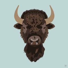 Bison  #illustration #illustrationoftheday #illustrationwork #dessin #dessindujour #drawing #color #couleurs #bison #animals #animaux #virginiebpics @virginieb.pics http://ift.tt/2dpcM8i