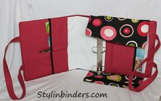 Cute coupon binder with straps!