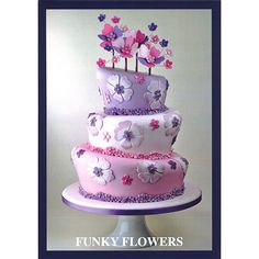 Funky Flowers Cutter and Cake Project by Stephen Benison - adds fun and a touch of whimsy with easy to follow instructions - Love!