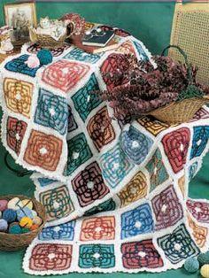 Scrap Afghan - free crochet pattern