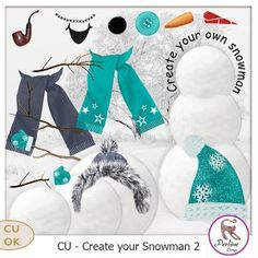CU Cree ton bonhomme de neige 2 by PerlineDesign