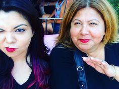 Matching red lipstick & matching funny faces at #Disneyland  Happy Mother's Day #Mom  ......Thank you for never letting me feel unloved even when I was at my worst and for having patience for my awkward and antisocial ways. All the good parts of me come from you.           #mothersday #happymothersday  # by merrilymelanie
