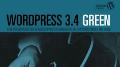 """WordPress 3.4 is here and out the door. We've dubbed this release """"Green"""" in honor of guitarist Grant Green whose soulful simplicity has kept many of us company during this releas…"""