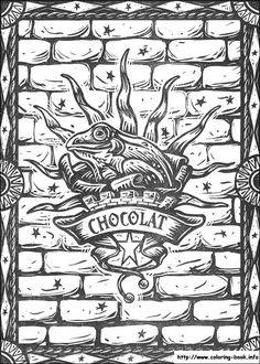 Chocolat Coloring Page From Harry Potter Category Select 28436 Printable Crafts Of Cartoons Nature Animals Bible And Many More