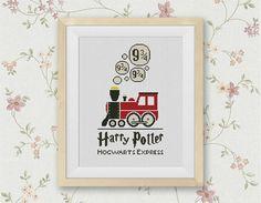 BOGO FREE Hogwarts Express Cross Stitch Pattern Platform 9