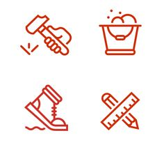 Icons, Symbols & Pictograms / Treadwell Logo and stationery design by Perky Bros
