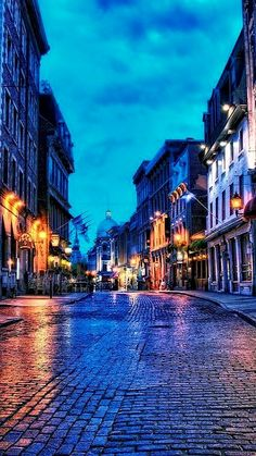 Blue hour ~Old Montreal, Canada