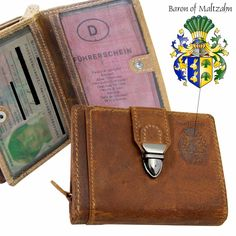 Baron of Maltzahn Wallets Shoes & Accessories Billfold Wallet, Credit Card Wallet, Purse Wallet, Leather Money Clip Wallet, Leather Bifold Wallet, Leather Men, Brown Leather, Baron, Organizers