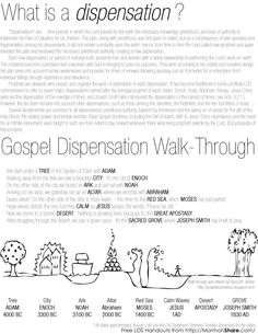 What Is A Dispensation?; Come Follow Me Youth Sunday School: April, The Apostasy and The Restoration