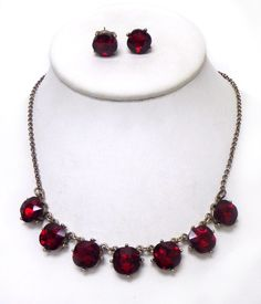 LA VIE PARIS NECKLACE SET - RUBY | Embelle Boutique