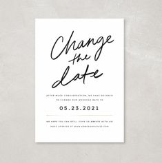 Text your guests the new wedding date! Instantly edit + download in your browser. Minimalist Wedding Invitations, Traditional Wedding Invitations, Classic Wedding Invitations, Wedding Stationery, Edit Online, Minimal Wedding, Text You, Plan Your Wedding, Design Templates