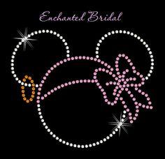 Disney Inspired Minnie Pirate Rhinestone Iron by EnchantedBridal, $7.25