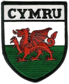 CYMRU / Welsh Flag Sheild Embroidered Badge - from Welsh Gifts, available with fast despatch!