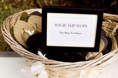magic flip flops to get everyone on the dance floor ;) #dbbridalstyle