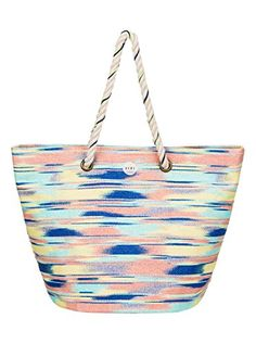 Women's Shoulder Bags - Roxy Sun Seeker Tote Bag Ikat Pattern New Combo Chambra One Size -- You can find out more details at the link of the image.