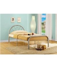 Furniture Realistic Tetras Silver Metal Bed Frame Modern Beech Wooden Single Double King Size Spare No Cost At Any Cost
