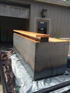 Custom Made Rustic Industrial Reception Desk