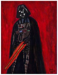 """Darth Vader"", watercolour on paper, 24 x 32 cm ... ダース・ベイダー"
