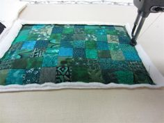 Scrappy squares - stitched them just for fun!  No matching just sewing and then a little quilting.