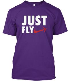 Just Fly Purple T-Shirt Front
