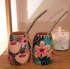 MATES PHOENIX - - Comprar en JUANITA LAPRIDA Ceramic Design, Pottery Painting, Decorative Objects, Crafts To Sell, Wood Art, Flower Pots, Great Gifts, Arts And Crafts, Artsy