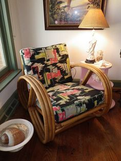 Grandma's chair in Miami FL Heywood Wakefield Rattan Cane Furniture, Bamboo Furniture, Design Furniture, Vintage Furniture, Furniture Removal, Vintage Decor, Furniture Ideas, Nachhaltiges Design, Interior Design
