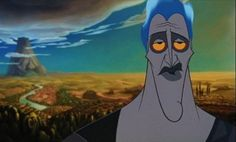 Hades from Disney's Hercules pointing to Mount Olympus in the distance with his thumb,movies Hercules Disney Hades, Disney Art, Disney Pixar, Disney Villains, Disney Characters, Disney Sleeping Beauty, Cartoon Gifs, Good Buddy, How To Train Your Dragon