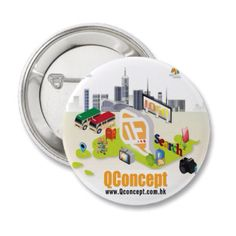 QConcept Badge Button (Circle shape)