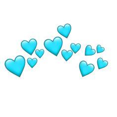 Cute Emoji Wallpaper, Heart Wallpaper, Tumblr Wallpaper, Wallpaper Backgrounds, Blue Heart Emoji, Blue Emoji, Emoji Drawings, Overlays Tumblr, Overlays Picsart