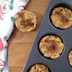 Nut  free Apple cinnamon muffins. Dairy free, wheat free and refined sugar free
