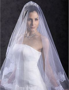 One Layer Waltz Wedding Veil - USD $ 14.54