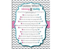 baby shower game guess who couples shower game couple babies