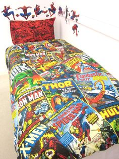 Marvel Comics Heroes Single Duvet Cover Set