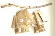 How awesome is this idea?  I can buy little things relevant to my boys throughout the year and give it to them one day at a time...        Advent calendar by // Between the Lines //, via Flickr