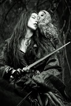 Blodeuwedd, Welsh (Celtic) - Spring & Owl Goddess of flowers, an aspect of the White Goddess of death and life.
