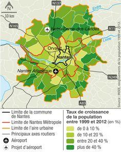 La croissance démographique de Nantes