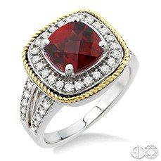 Nancy & Co. Fine Jewelers: Two tone Garnet Ring