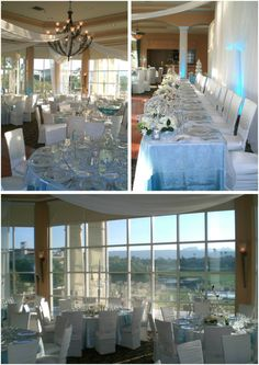 Azure blue and silver palette reception at Canyon Gate Country Club // Little Vegas Wedding