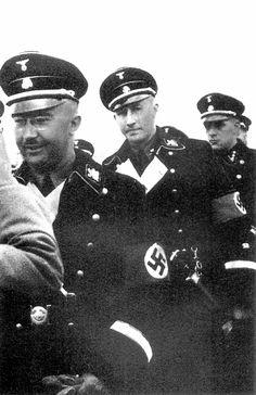 Heinrich Himmler and Reinhard Heydrich in 1934 year.