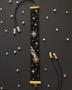 off loom beading techniques Loom Bracelet Patterns, Bead Loom Bracelets, Bead Loom Patterns, Beaded Jewelry Patterns, Beading Patterns, Beading Ideas, Silver Bracelets, Beading Supplies, Macrame Bracelets