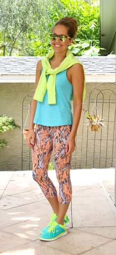 J's Everyday Fashion provides outfit ideas, budget fashion, shopping on a budget, personal style inspiration, and tips on what to wear. Sport Outfits, Summer Outfits, Neon Sneakers, Js Everyday Fashion, Budget Fashion, Fitness Fashion, Fitness Style, Gym Wear, Workout Wear