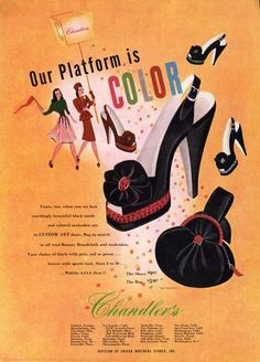 CHANDLER'S SHOE  PURSE AD - 1946