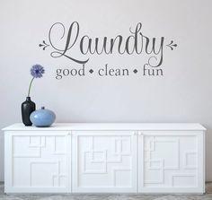 Laundry Room Decor Laundry Good Clean Fun Decal  by NewYorkVinyl
