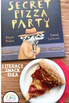 Literacy Snack Idea Pizza   Free Printable