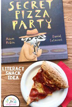 Literacy Snack Idea Pizza   Free Printable