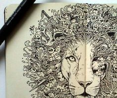 The beautiful moleskine doodles by Kerby Rosanes - Blog of Francesco Mugnai